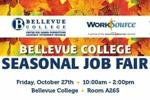 Seasonal Job Fair - Oct. 27 - links to event sign up