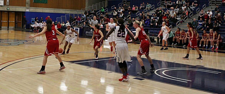Bellevue College women's basketball against Skagit Valley
