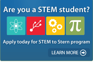 Are you a STEM student? Apply today for the STEM to Stern program. Learn more!