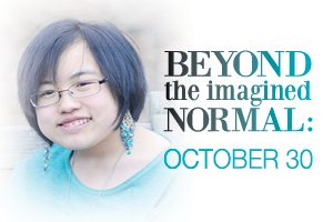 Ad: Beyond the Imagined normal - October 30. Link to more information.