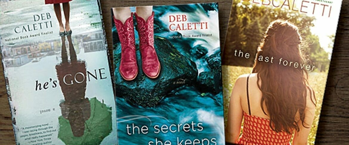 Images of three books by novelist and BC alumna Deb Caletti