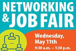 Links to info page on job fiar for Wednesday, May 11