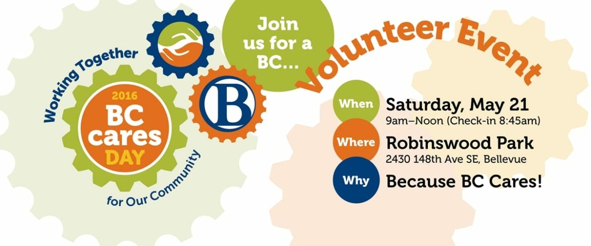 Slide links to event information for BC Cares Day