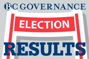 Graphic links to page for BC Governance Election results