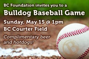 Ad for BC Quarterly: Bulldog Baseball links to event page