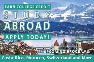 Costa Rica, Morocco, Switzerland and More. Links to Study Abroad page