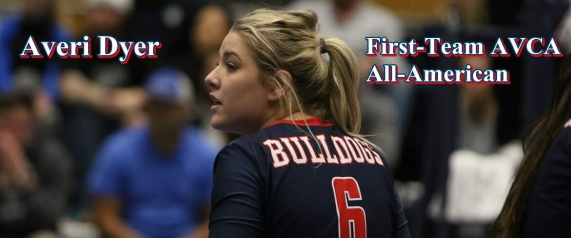 BC volleyball player Averi Dyer, first-team AVCA All-American