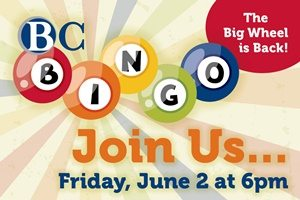 BCBingo 2017, Join us, Friday, June 2, 6 p.m.
