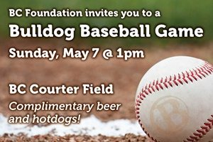 Bulldog Baseball Game, May 7, 2017 - Links to foundation events page for infomation