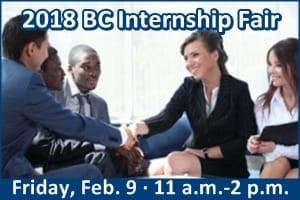 2018 BC Internship Fair, Friday, Feb. 9, 11 a.m.-2 p.m. Links to event info page