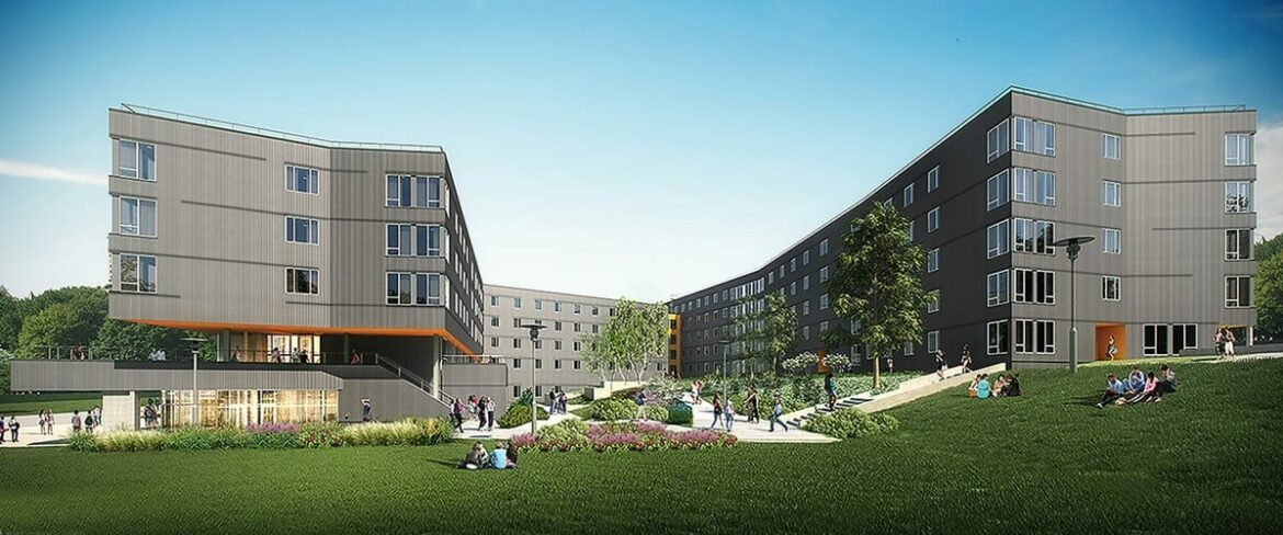 Rendering of new Bellevue College student housing