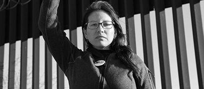 Woman at US-Mexico border