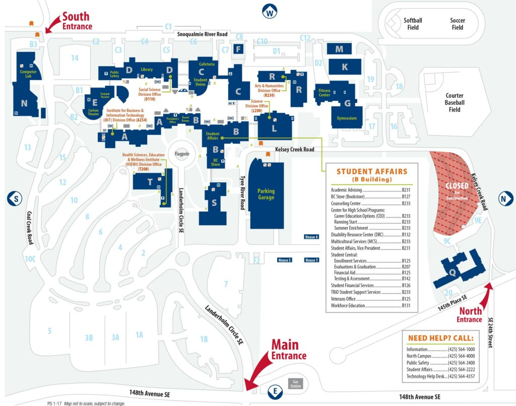 main campus map location and maps