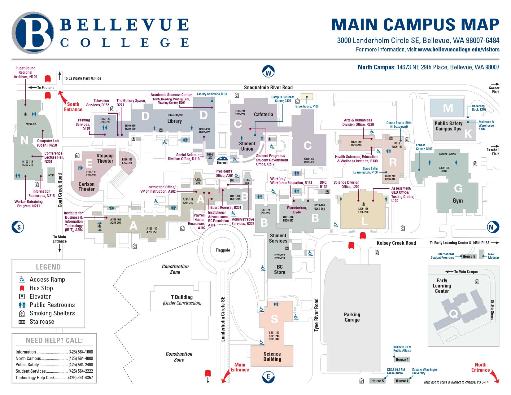 Bellevue College Campus Map Contact Us :: Psychology