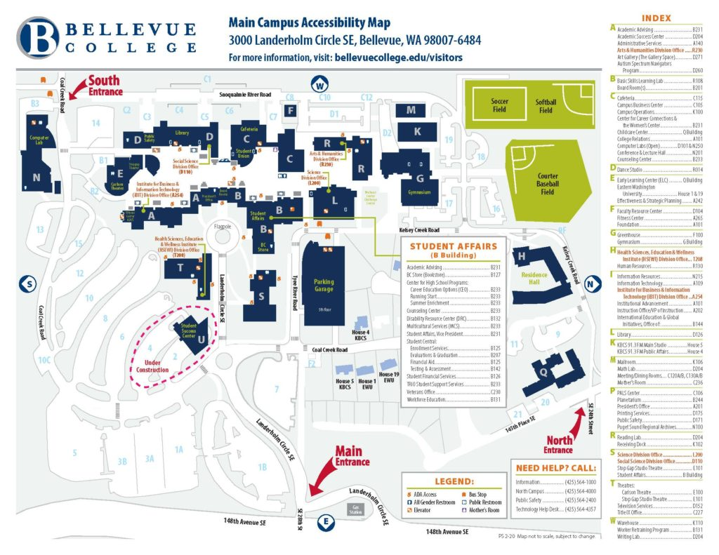 Main campus accessibility map.