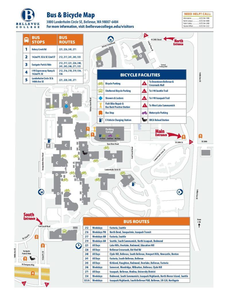 bus/bike parking map.
