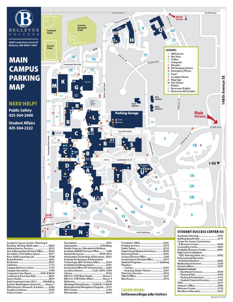 Main BC Campus Map