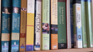 Image of books on a shelf