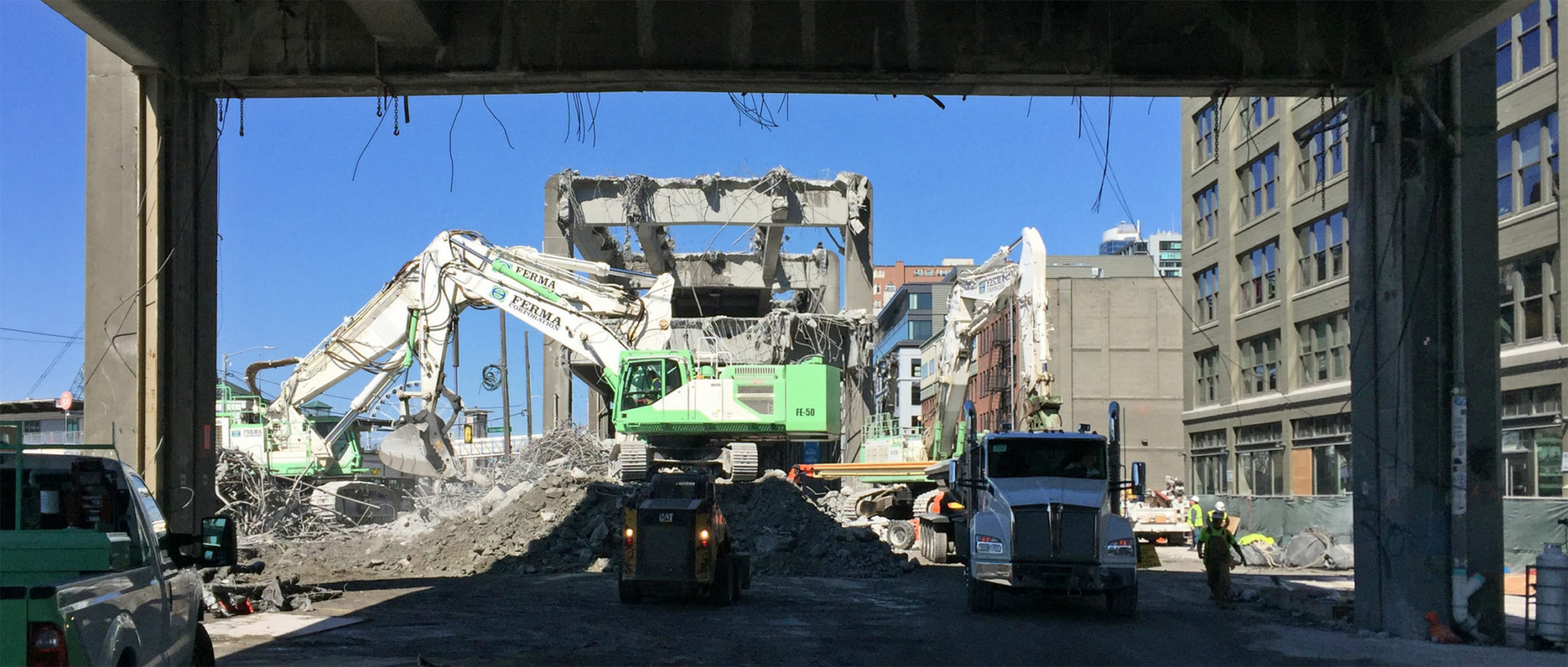 picture of Alaskan Way Viaduct Demolition