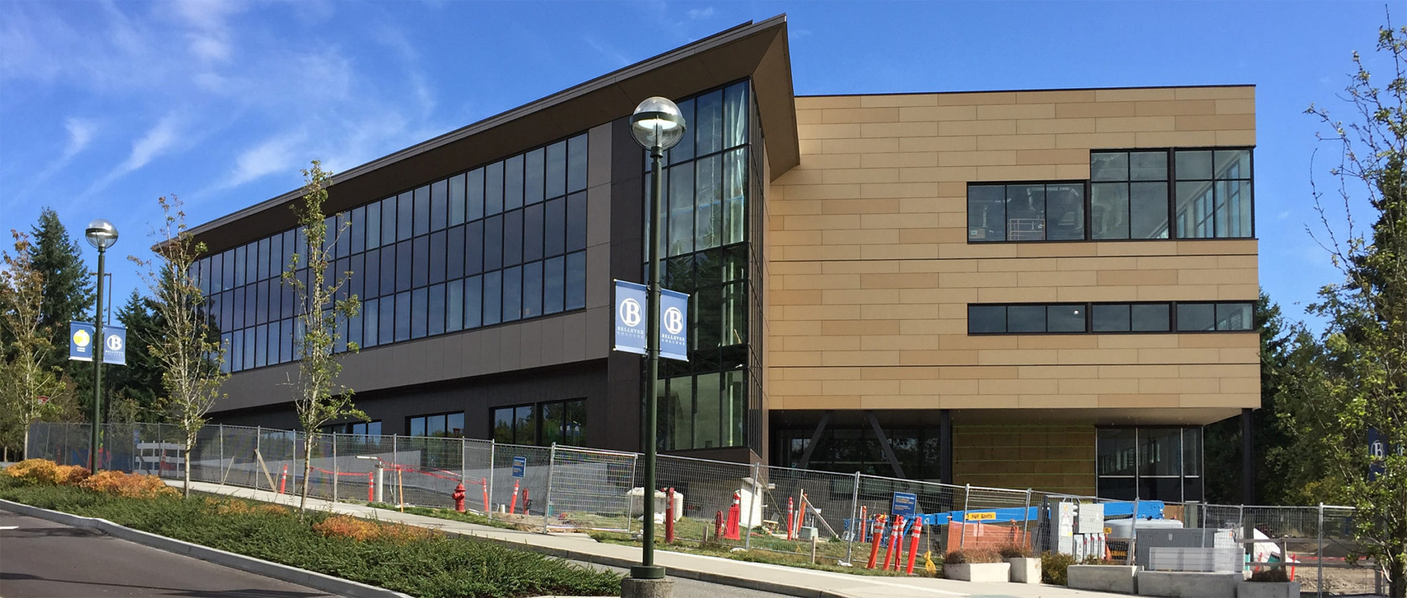 picture of new Student Services Building near completion
