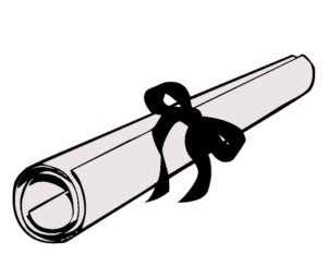 clipart of diploma scroll