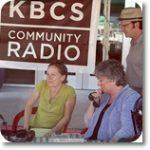 KBCS Radio staff at a community event