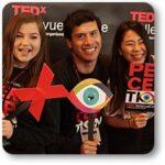 Three student volunteers at TEDxBellevueCollege