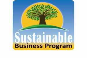 Business Sustainable Program logo centered in white background