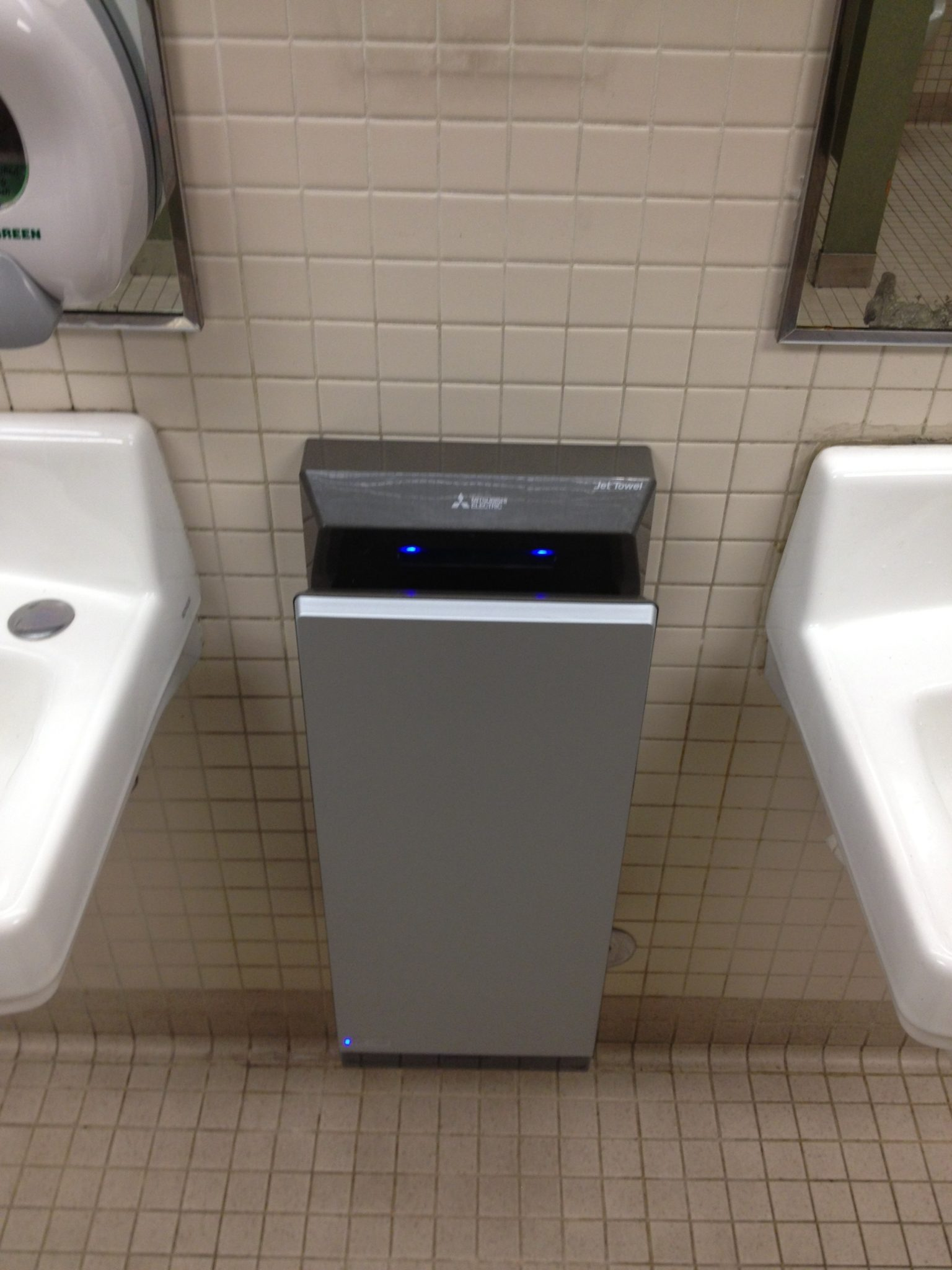 Hand dryers installed in c building sustainability for Bathroom hand dryers electric