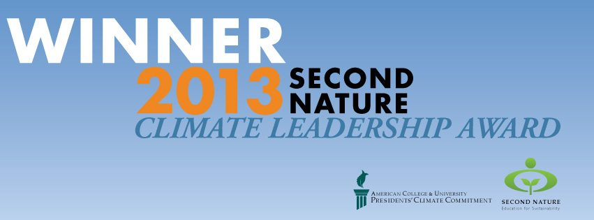 2013 Second Nature Climate Leadership Award
