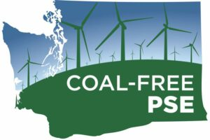Coal Free PSE Washington State image logo