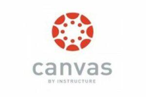 Canvas logo centered in white background
