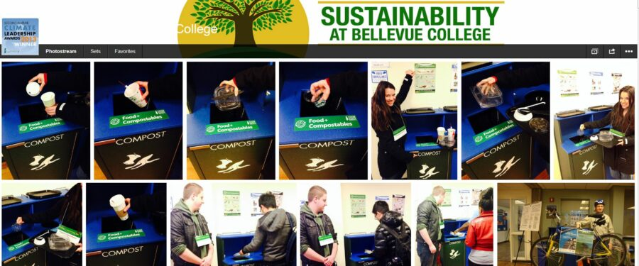 Sustainability at Bellevue College Flickr page screen shot