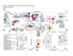 Bellevue College Compost Map