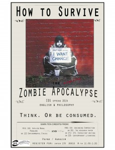 How to Survive the Zombie Apocalypse class poster