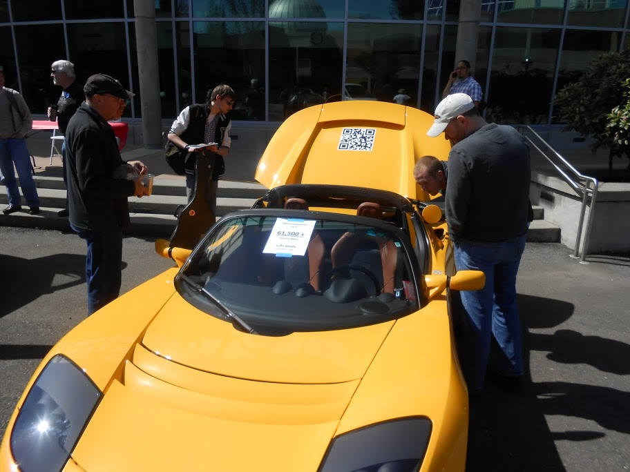 Yellow Tesla Roadster from 2012 Earth Week