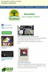 March 2014 Newsletter screen shot
