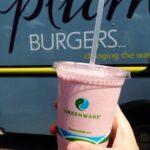 Plum Burgers Strawberries and Cream Milkshake