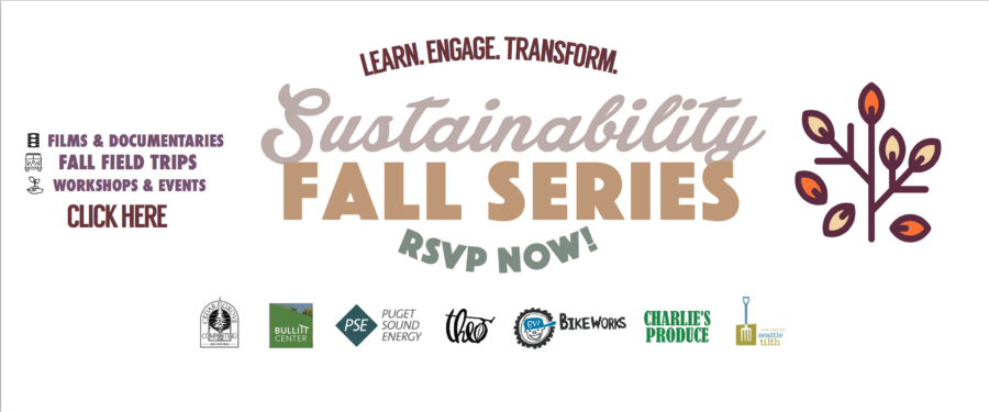Fall Sustainability Series is in Season! Click here to find out what exciting events, field trips, and workshops we have coming up! We have many exciting activities brought to you by a variety of different local organizations.