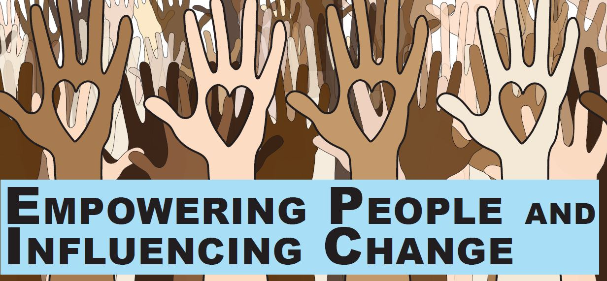 Empowering People and Influencing Change (hands in the air)