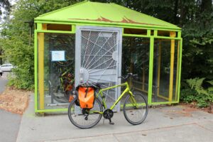 Bike storage with bike