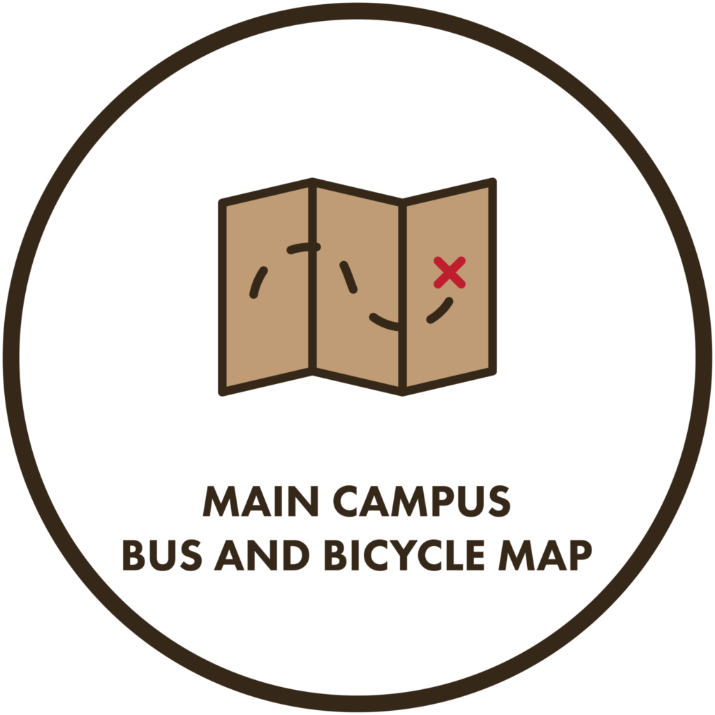Main Campus Bus and Bicycle Map
