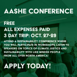 AASHE Conference APPLY TODAY!