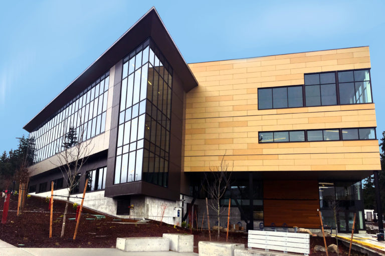 The new SSC building during it's final construction stages.