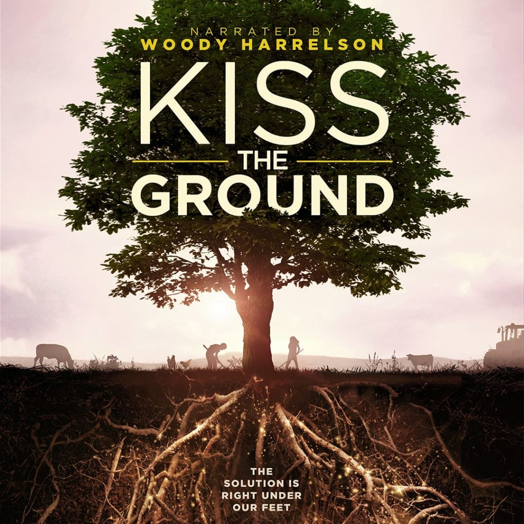 tree with roots and farming, movie poster