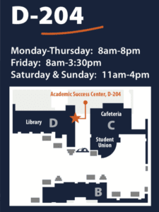 Spring Quarter Hours:Monday through Thursday8:00am - 8:00pmFriday8:00am - 3:30pmSaturday and Sunday11:00am - 4:00pm