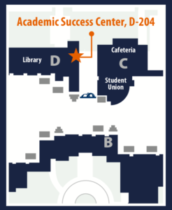 Map of ASC location on campus
