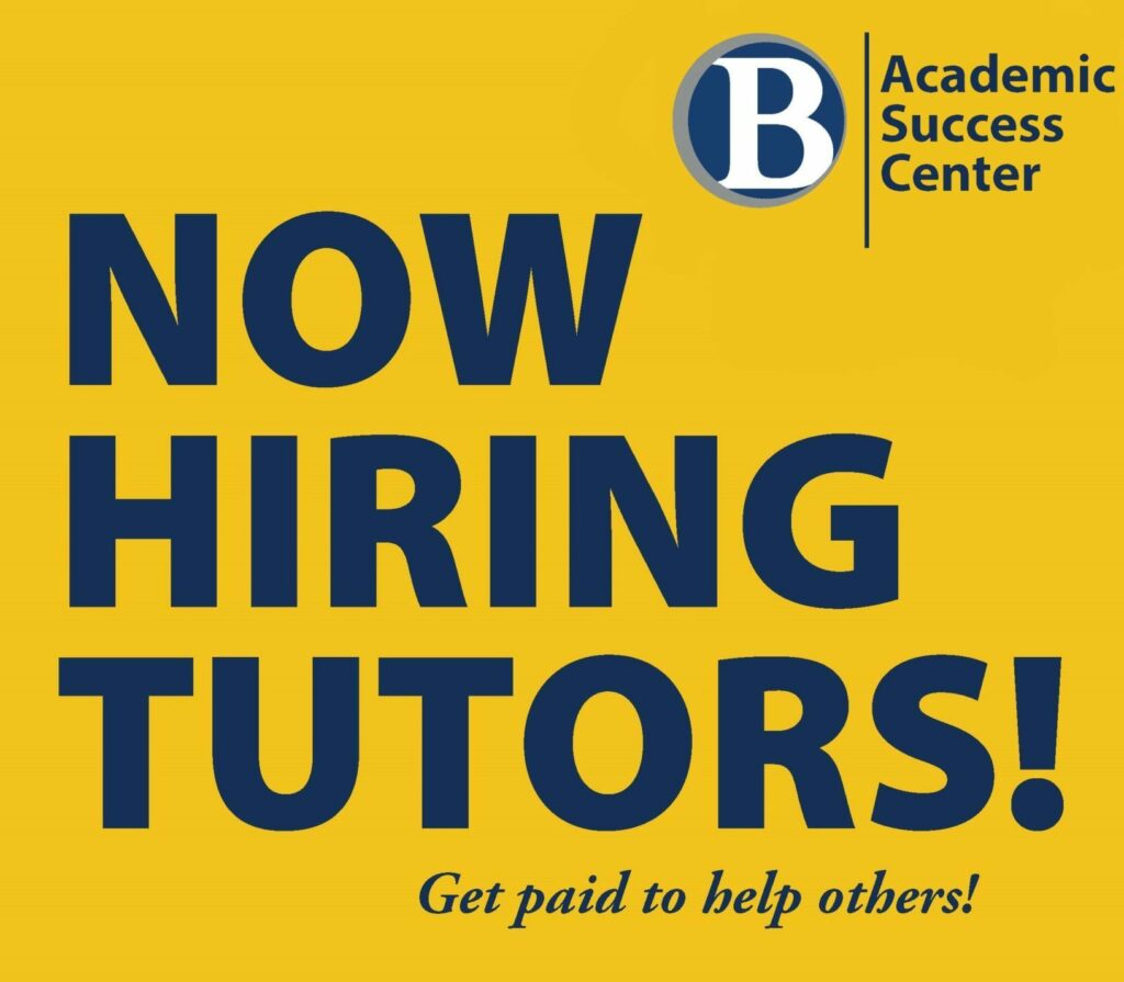 Image that reads now hiring tutors