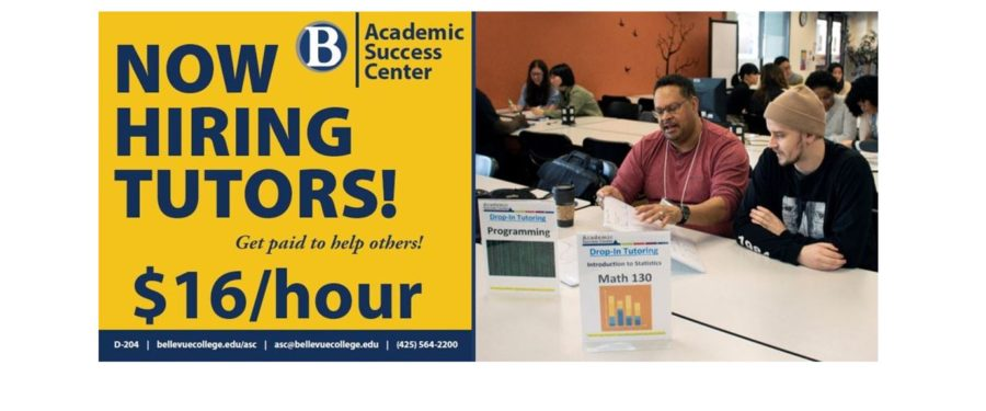 Ad for tutoring and photo of tutoring session
