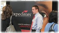 Presenter at job fair